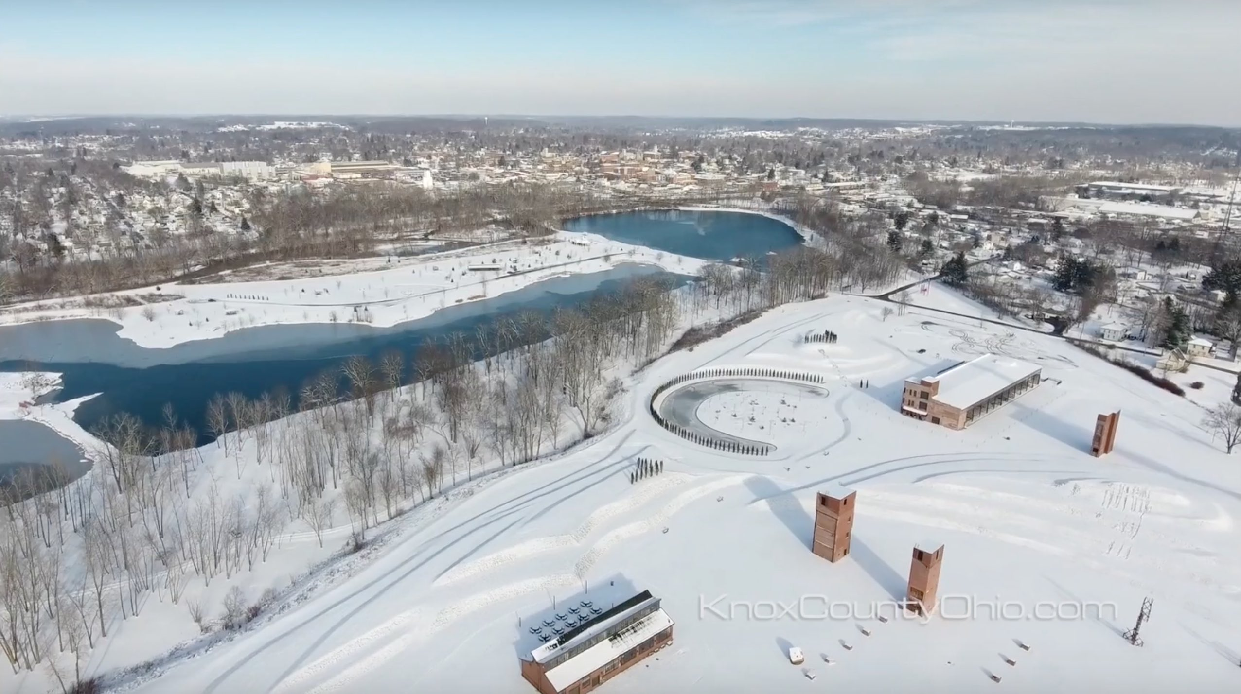 Ariel Foundation Park Winter Time View Photo Taken by Drone