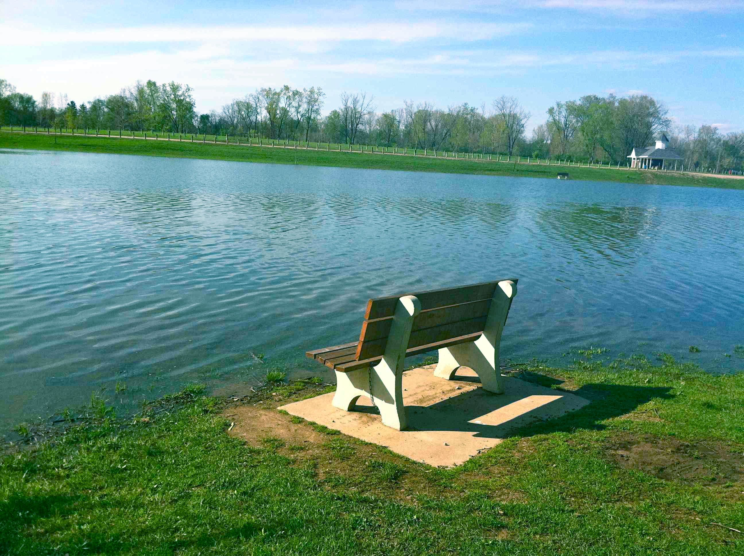 Foundation Park Bench in Mount Vernon Ohio Photo by Sam Miller