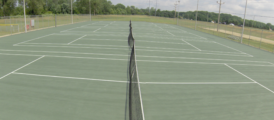Mount Vernon Tennis Courts at the Memorial Park