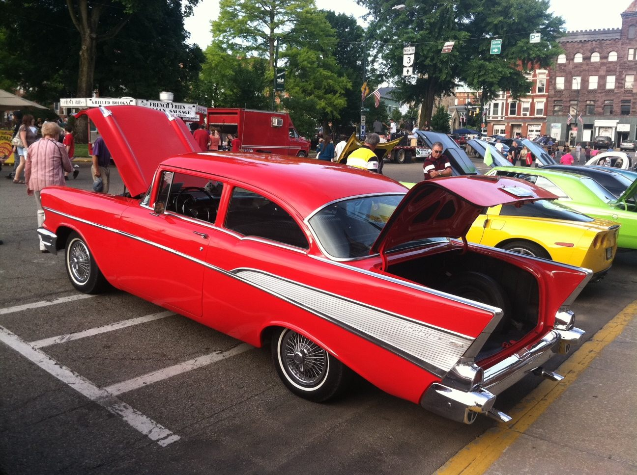 Mount Vernon Ohio First Friday Car Show Rich and Kathy Hardwick 57 Chevy Photo by Sam Miller