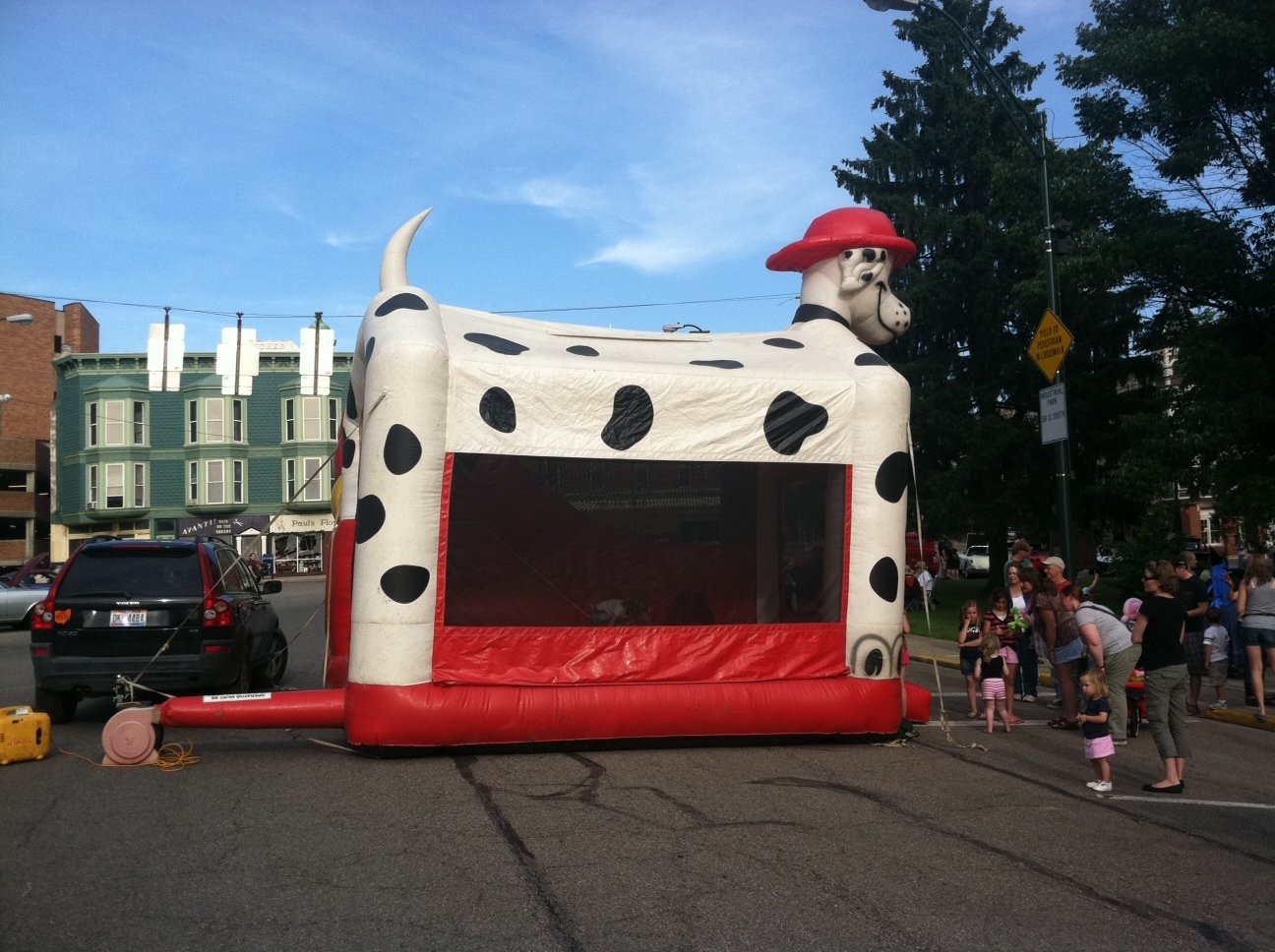 Mount Vernon Ohio First Friday Bounce House photo by Sam Miller