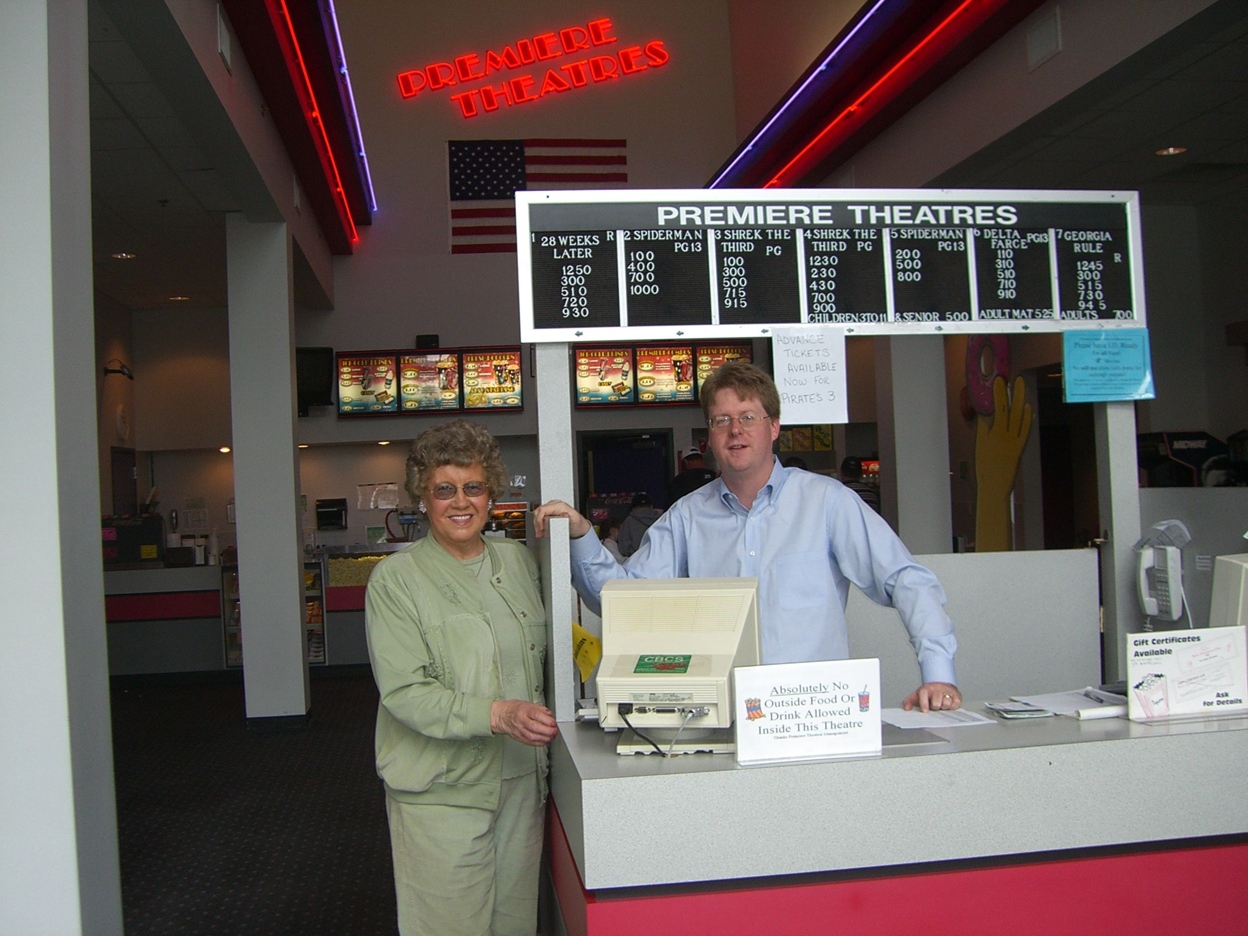 Mount Vernon Ohio Movie Theatre Photo featuring Sam Miller and Joan Clipse
