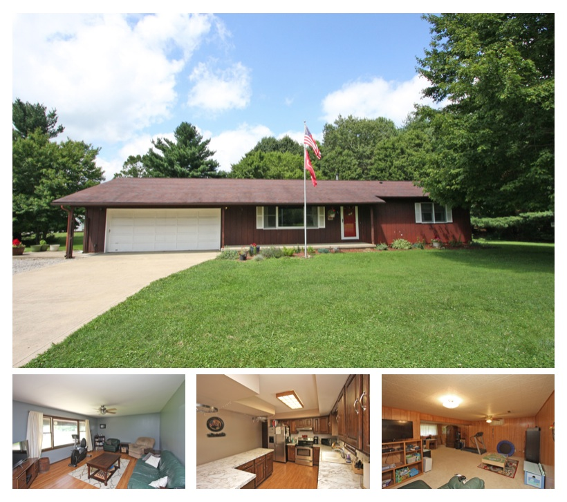 Country ranch home for sale in fredericktown ohio mount for Ranch home builders ohio