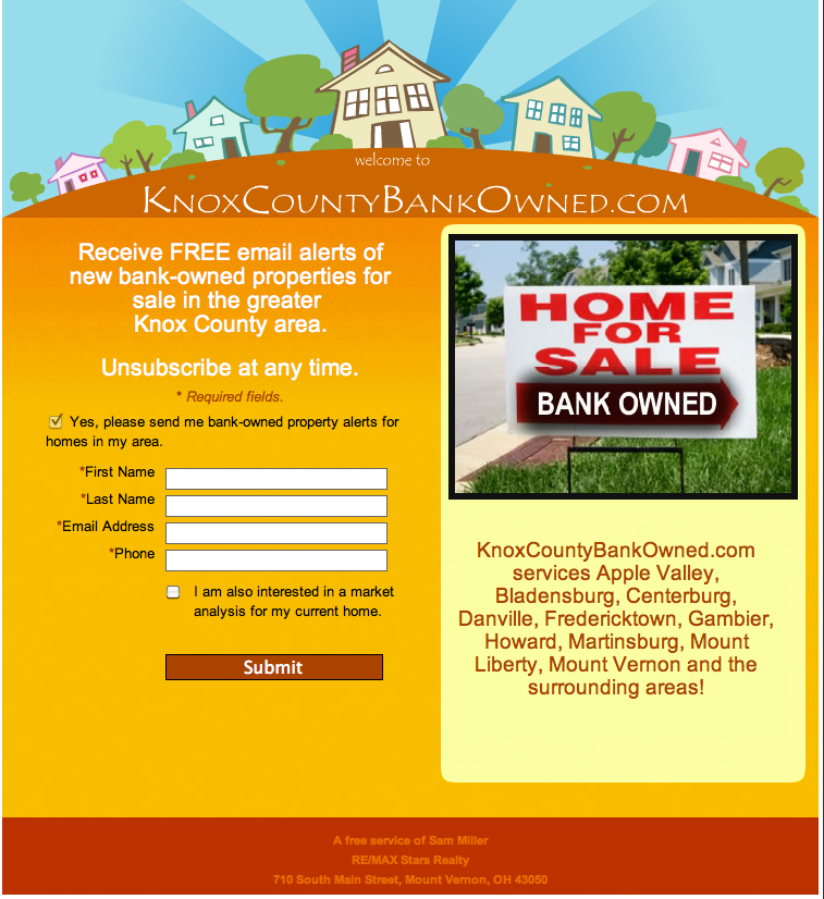 Knox County Ohio Bank Owned Homes