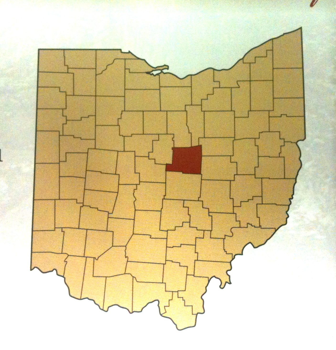 Knox County Ohio Map