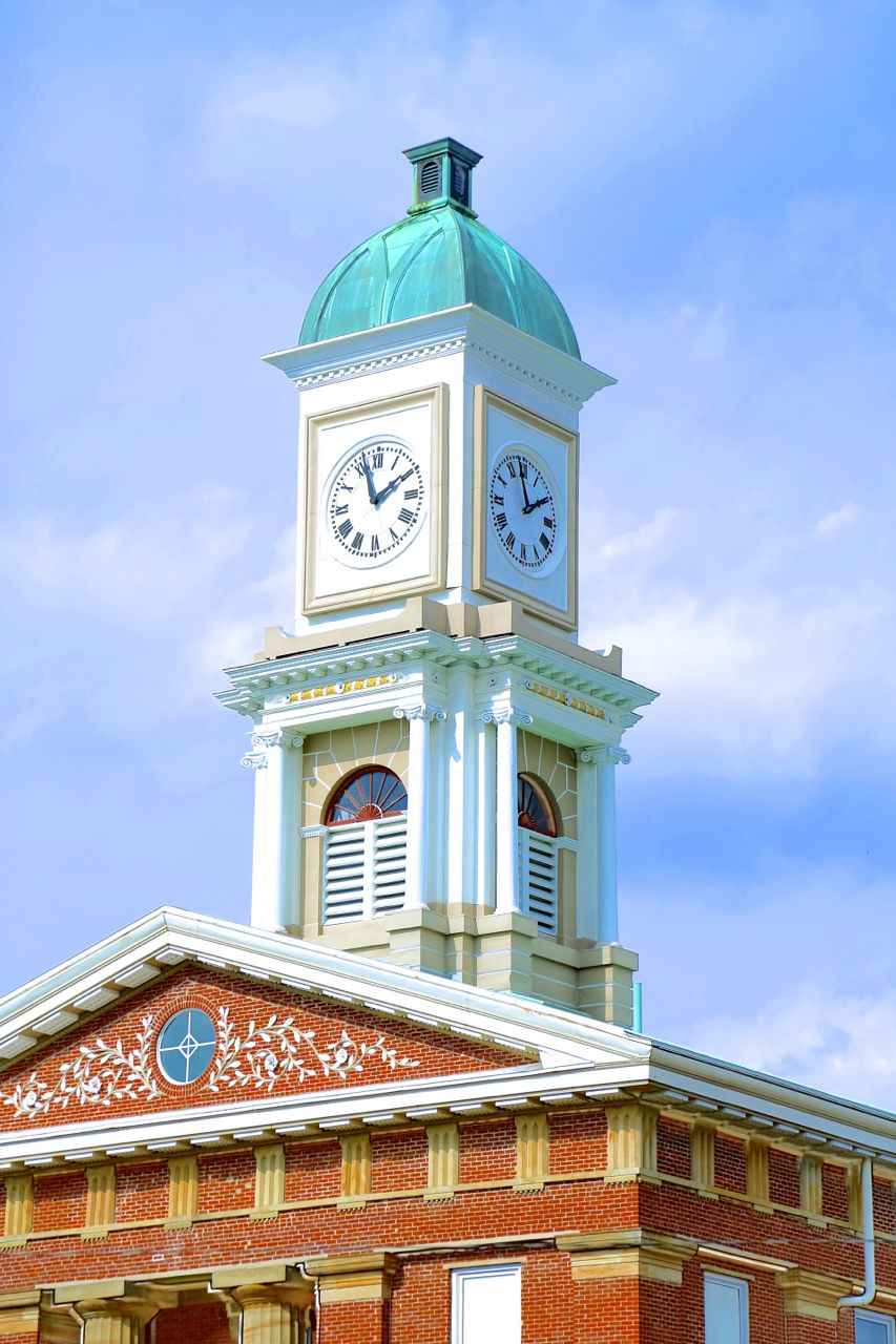 Knox County Ohio Courthouse Clock Tower Photo by Sam Miller